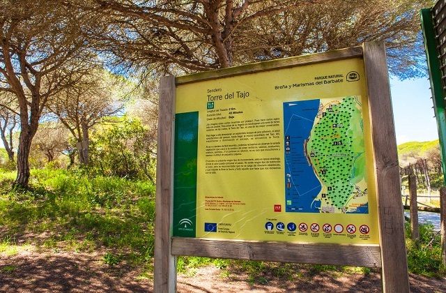 Rutas de senderismo en Andalucia - SENDERO SEÑALIZADO TORRE DEL TAJO