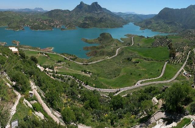 Panoramen von Andalusien - Mirador de Zahara de la Sierra