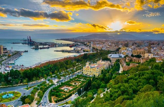 Panoramen von Andalusien - Mirador de Gibralfaro