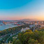 Vista de Málaga desde Gibralfaro
