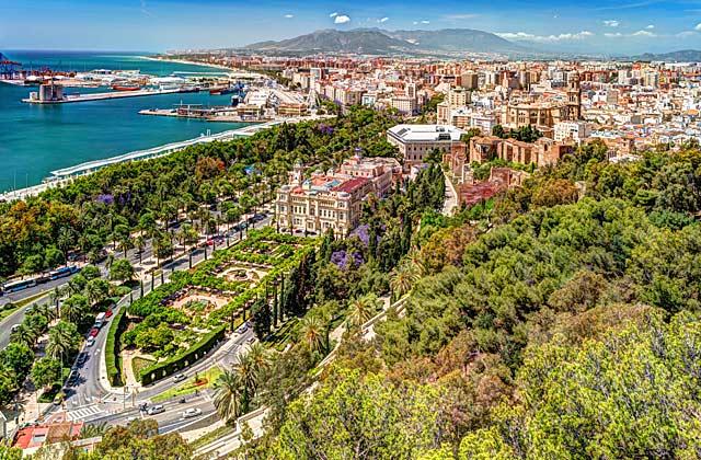 Malaga aerial view
