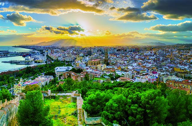 Sunsets in Andalucia - gibralfaro Malaga
