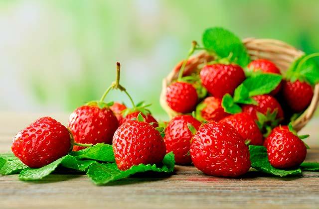 Cesta de fresas
