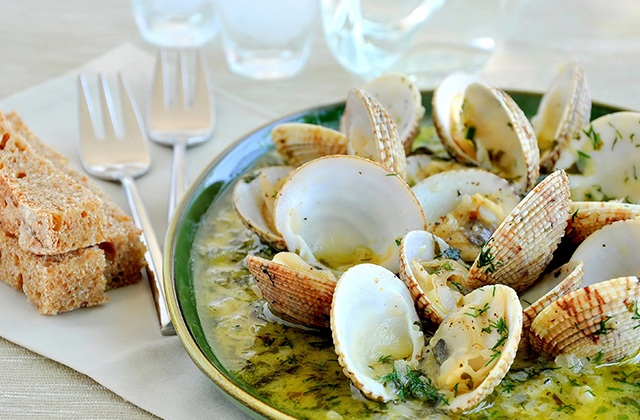 poissons et fruits de mer d'Andalousie - Palourdes ou moules