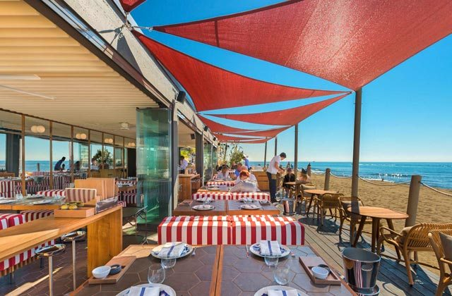 Strandbars und Restaurants in Marbella - Soleo Marbella restaurant beach club