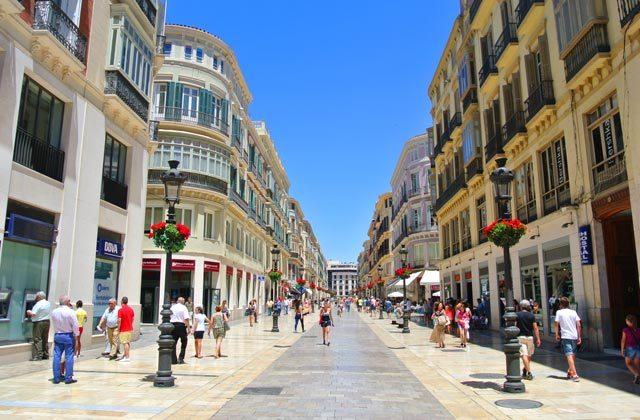 Calle Larios Malaga - Editorial credit: Jasmina976