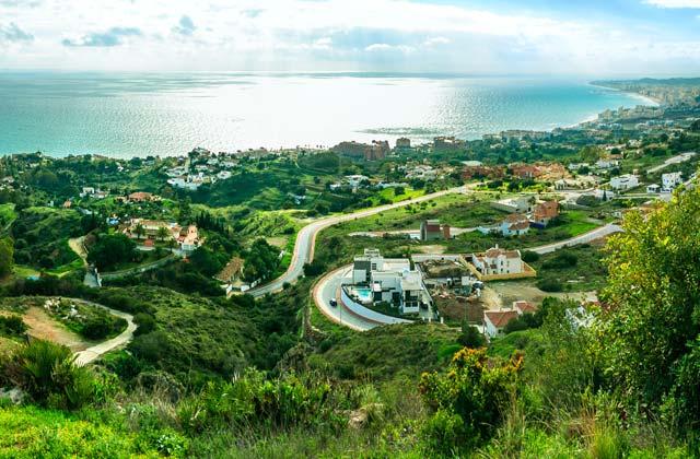 Coastal landscape in Malaga