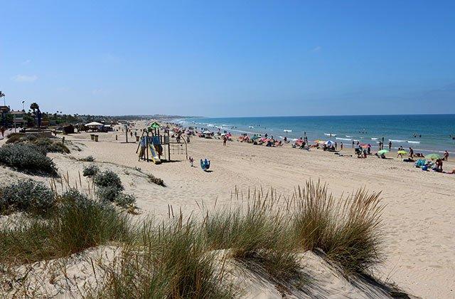 Playa de La Barrosa en Chiclana.