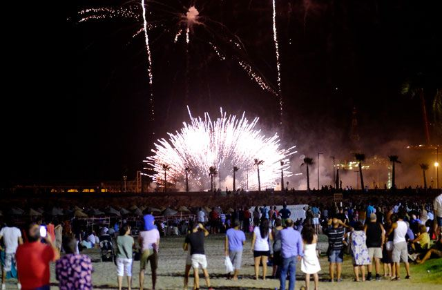 Málaga Fair (feria de Málaga) - fireworks