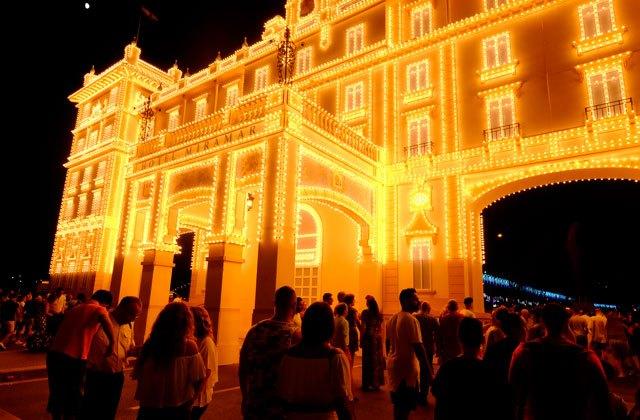 Málaga Fair (feria de Málaga) - inauguration in Real de la Feria de Cortijo de Torres.