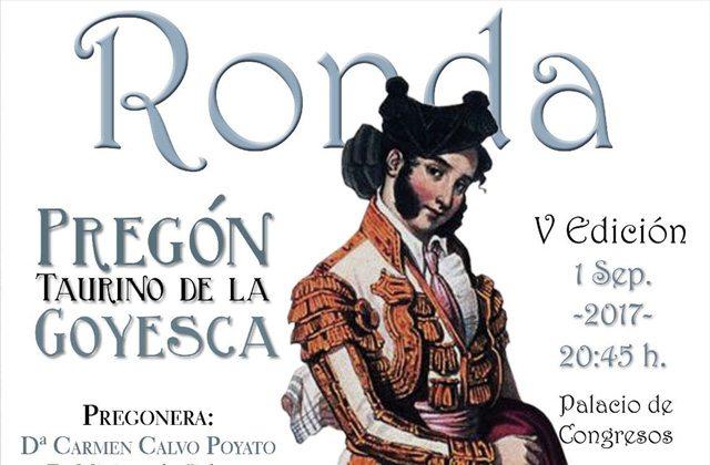 Feria de Ronda - Cartel pregon taurino feria de ronda 2017