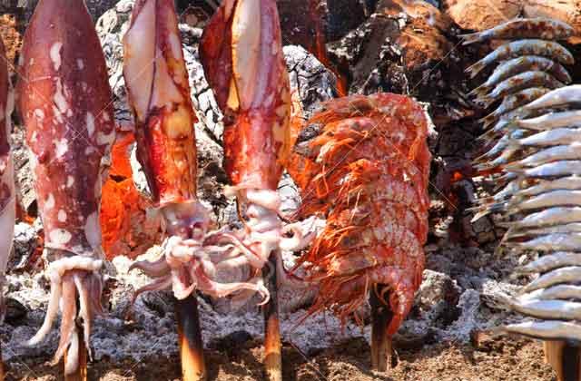 espeto calamares