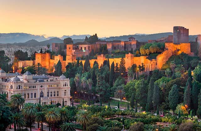 Sonnenuntergänge von Andalusien - La Alcazaba (Málaga)