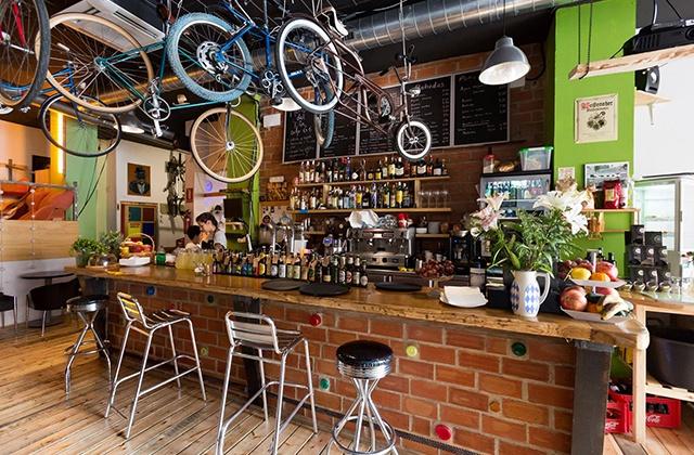 Restaurantes originales de Málaga - Recyclo Bike Café, Málaga