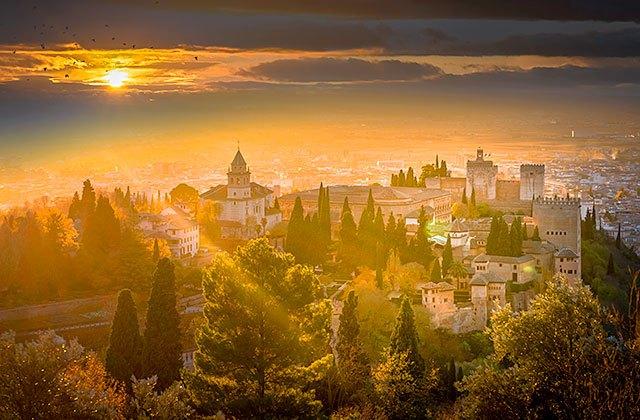Sonnenuntergänge von Andalusien - Mirador de San Nicolás en Granada