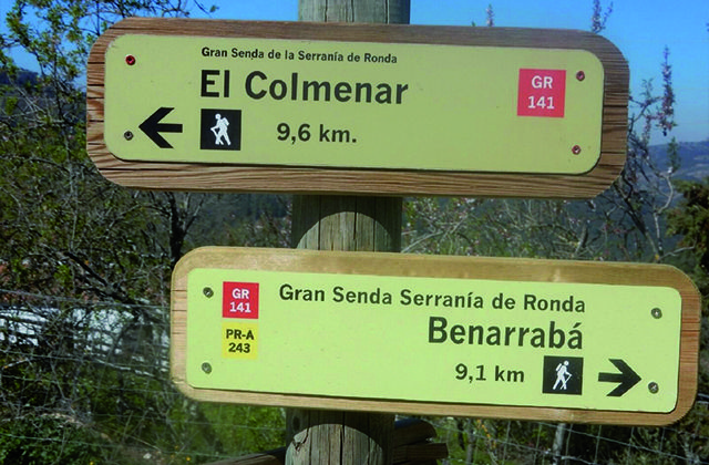 Señalización Colmenar - Benarrabá | GR 141 Gran Senda de la Serranía