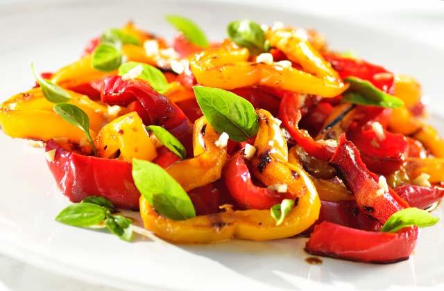 recetas refrescantes de verano - Ensalada de pimientos