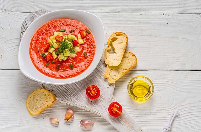 recetas refrescantes de verano - Gazpacho