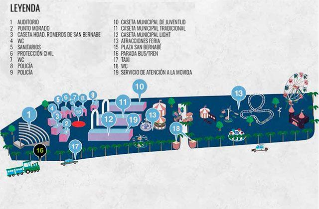 Mapa Feria de noche, San Bernabé Marbella