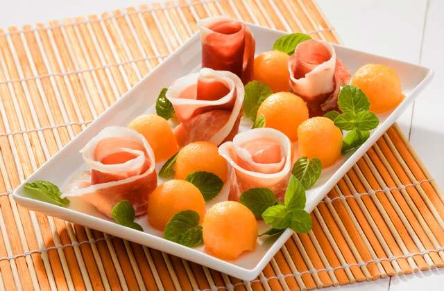 recetas refrescantes de verano - Melon con Jamon