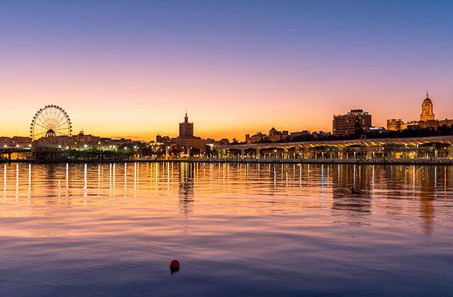 Atardecer en Málaga - curiosidades sobre Málaga