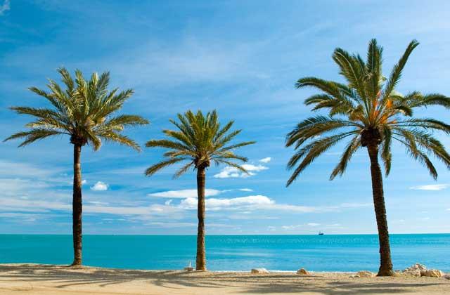 playa de Málaga en invierno