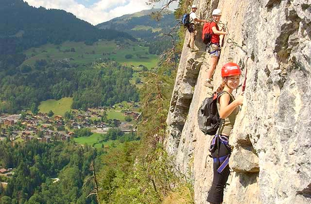 Climbing the iron road (Via Ferrata)