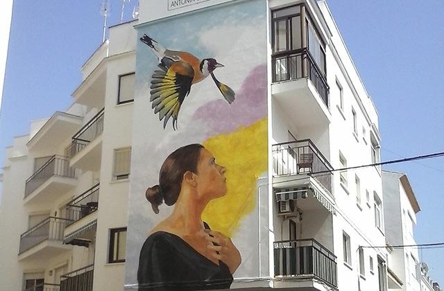 Route of Artistic Murals - ANTONIA GUERRERO, SUEÑO DE LIBERTAD