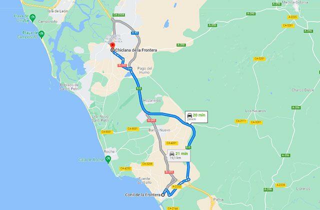 Cómo llegar a Chiclana desde Conil