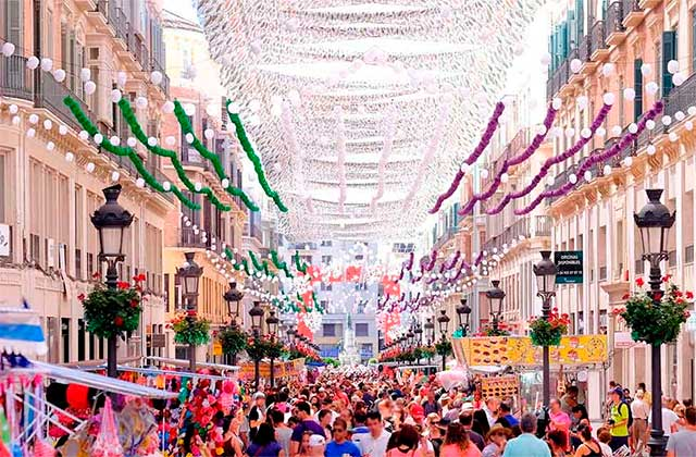 Volksfest in Málaga