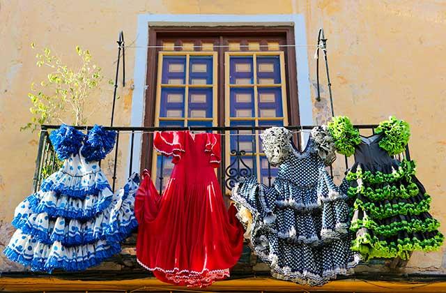 Feria de Málaga - Zigeunerkleider - Andalusien