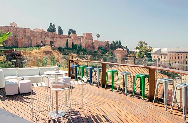Rooftop bars of Andalucia - Alcazaba Premium Hostel, Málaga