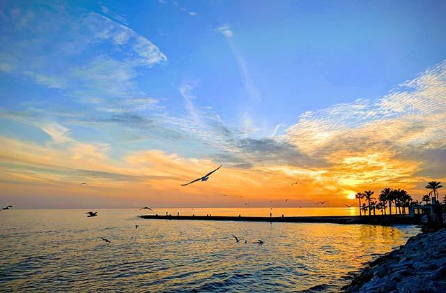 Atardecer en Marbella en invierno