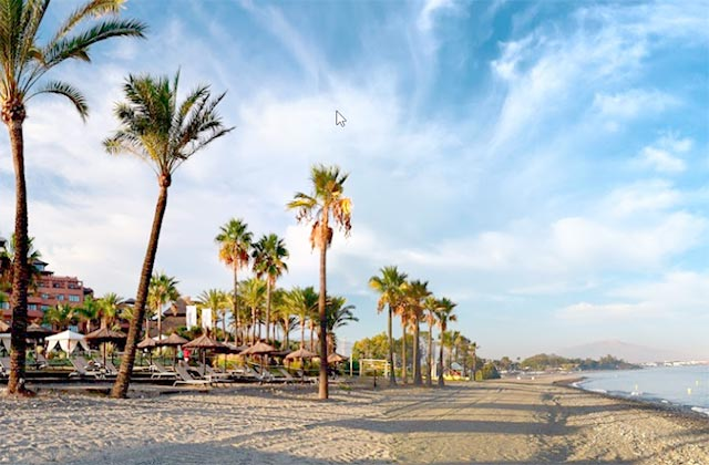 playa El Padrón, Estepona