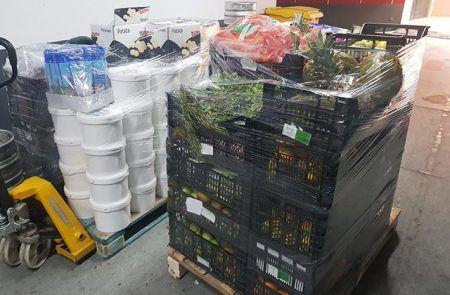 Donación alimentos Caritas