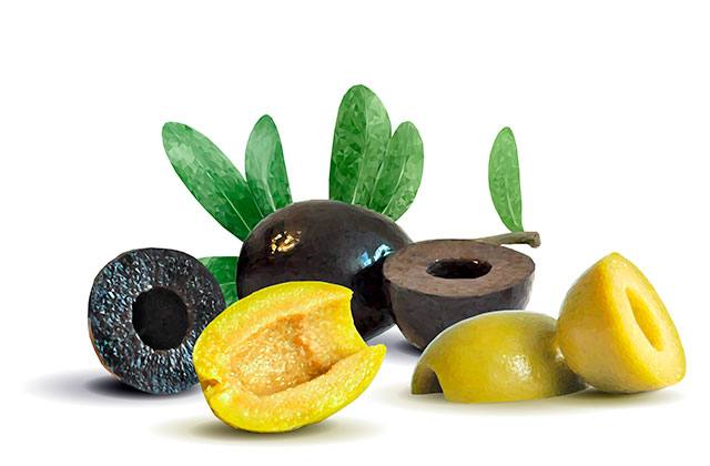 Olives - four basic flavours